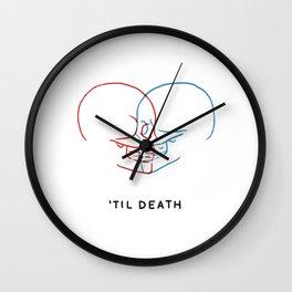 'Til Death (Minimal) Wall Clock