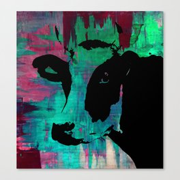 Rainbow Graphic Cow Color Painting Poster Print by Robert Erod Canvas Print