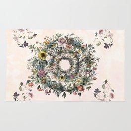 Circle of life- floral Rug