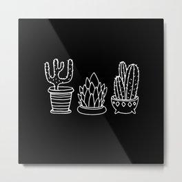 Plants in Pots Metal Print