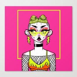 High Voltage (Pink) Canvas Print