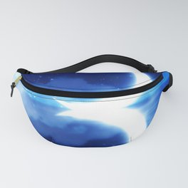 Crescent Moon over blue Starry Sky Fanny Pack