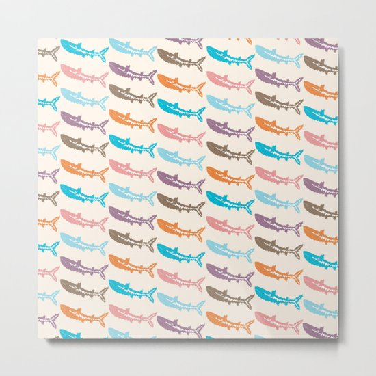 Pastel Marine Pattern 14 Metal Print