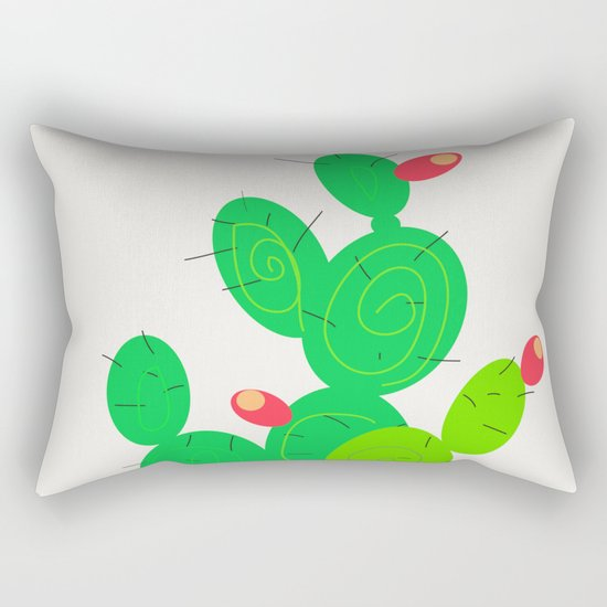 Potted Cactus Rectangular Pillow