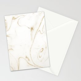 Elegant gold and white marble image Stationery Cards