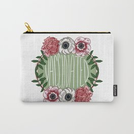 Vaccinated Floral Badge Carry-All Pouch