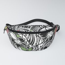 Polynesian Flora Touch Of Color Fanny Pack