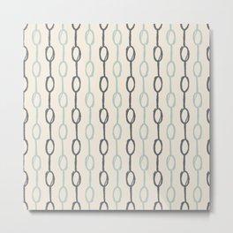Girly Dot Stripe 4 Metal Print