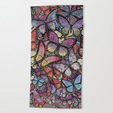 butterflies aflutter colorful version Beach Towel