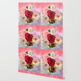 Rose Garden - Floral Spring Summer Roses Design Wallpaper