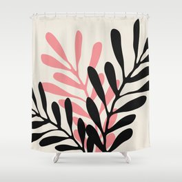 Still Life with Vase and Three Branches Shower Curtain