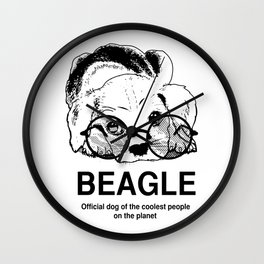 Beagle Dog for Coolest Owners - Beagle Lovers Gift Ideas Wall Clock