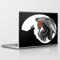 coyote Laptop & iPad Skins featuring Coyote Moon by Christina Dugger