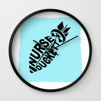 nurse Wall Clocks featuring NURSE DUCKETT by 3SCOOPS