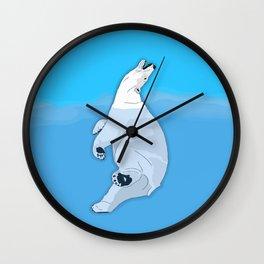 Lincoln Park Polar Bear - Blue Wall Clock
