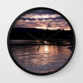 Cotton Candy Sunrise - South Lake Tahoe, California Wall Clock
