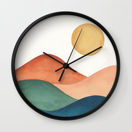Colorful Abstract Mountains Wall Clock