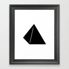 Shapes Pyramid Framed Art Print