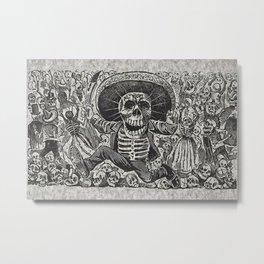 Calavera Oaxaqueña - Día de los Muertos - Mexican Day of the Dead by Jose Guadalupe Posada Metal Print