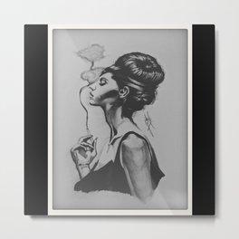 Smoke the Pain Away  Metal Print