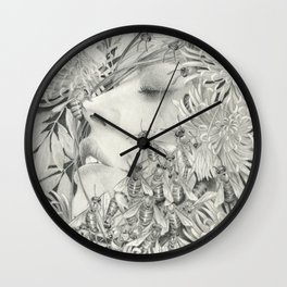 Apiphobia - Fear of Bees Wall Clock