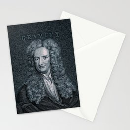 Gravity / Vintage portrait of Sir Isaac Newton Stationery Cards