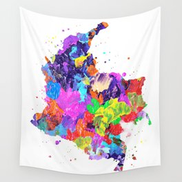 Colombia Map Wall Tapestry