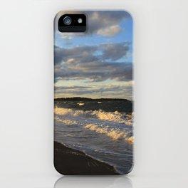 Evening Seascape Waves iPhone Case