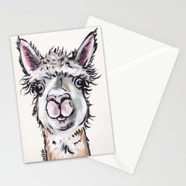 Maggie the Alpaca, Alpaca Art Stationery Cards