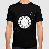 If I Could Turn Back Time... Mens Fitted Tee MEDIUM Black