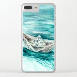 Life in an adventure that never ends Clear iPhone Case