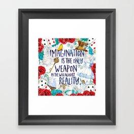 Alice in Wonderland - Imagination Framed Art Print