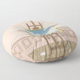 Rene Magritte La Vengeance  Floor Pillow