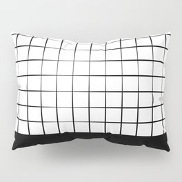 Black Grid Pillow Sham