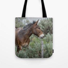 Mule in Wyoming Tote Bag