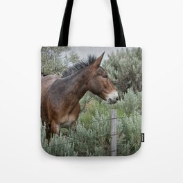 Mule in Wyoming Tote Bag