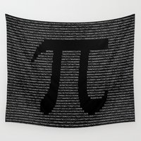 pi Wall Tapestries featuring Pi by The Colour Wheel