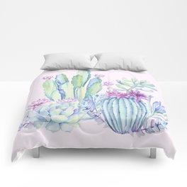 Mixed Cacti Pink #society6 #buyart Comforters