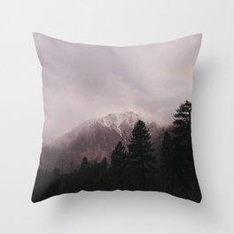 Misty Sunset on Convict Mountain Throw Pillow