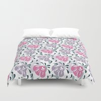 flora Duvet Covers featuring Flora by Shelly Bremmer