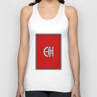 switzerland Tank Tops featuring Glassy Switzerland by matthieugissler