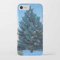 christmas tree iPhone & iPod Cases featuring Christmas tree  by Svetlana Korneliuk