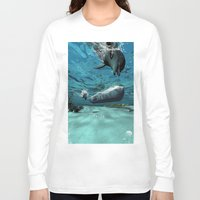 submarine Long Sleeve T-shirts featuring Submarine  by nicky2342