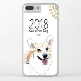 Year of the Dog - Corgi Clear iPhone Case