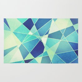 STAINED GLASS WINDOW BLUE Rug