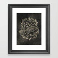 Hufflepuff House Framed Art Print