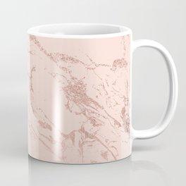 Modern rose gold glitter ombre foil blush pink marble pattern Coffee Mug