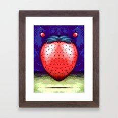 JAM BERRY BLUES Framed Art Print