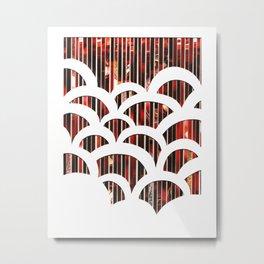 Eco Art 6 - Red Scallop Metal Print