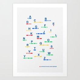 Universal morse code alphabet Art Print